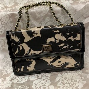Anne Klein Black and Gold Purse